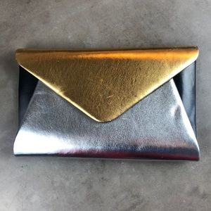 Saks Fifth Avenue Metallic Clutch